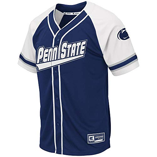 Colosseum Mens Penn State Nittany Lions Wallis Baseball Jersey - 2XL