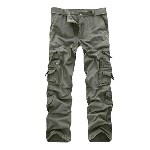 Allywit Casual Military Pants, Cotton Camo Tactical Wild Combat Cargo Sport Pleated Multi Zipper Pockets Trousers Plus Size by Allywit-Pants (Image #8)