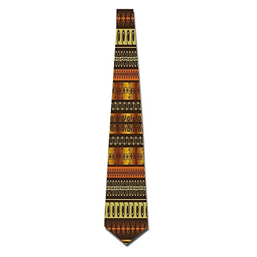 WuLion African Indigenous Motifs With Ethnic Ornaments Traditional Tribal Figures Print Men