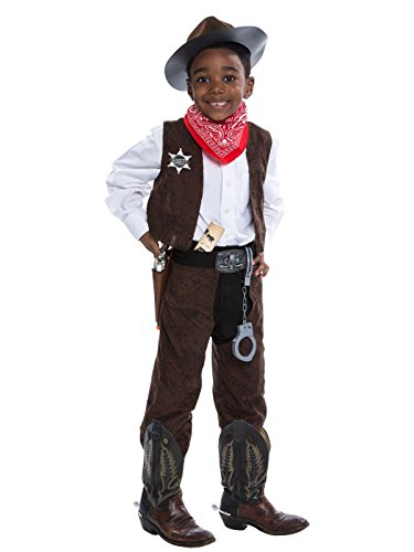 Vest And Chaps Cowboy Costumes (Deluxe Cowboy Costume Kit - Small (4-6))