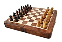 "Holiday Toy List - StarZebra Magnetic 7"" Inch Chess Set Game with Fine Wood Classic Handmade Standard Staunton Themed Ultimate Folding Chess Set - comes with storage for Pieces in the Wooden Board"