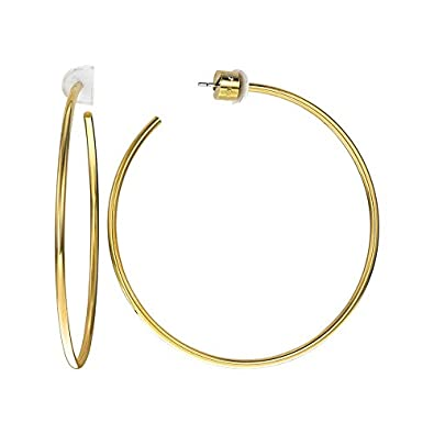 d1f32842fb2e6 Image Unavailable. Image not available for. Color  Michael Kors Large Hoop  Earrings (Gold)