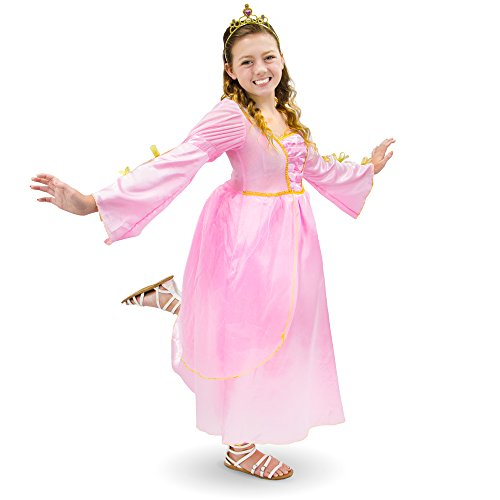 Pink Princess Children's Girl Halloween Dress Up Theme Party Roleplay & Cosplay Costume (Youth Medium (5-6))