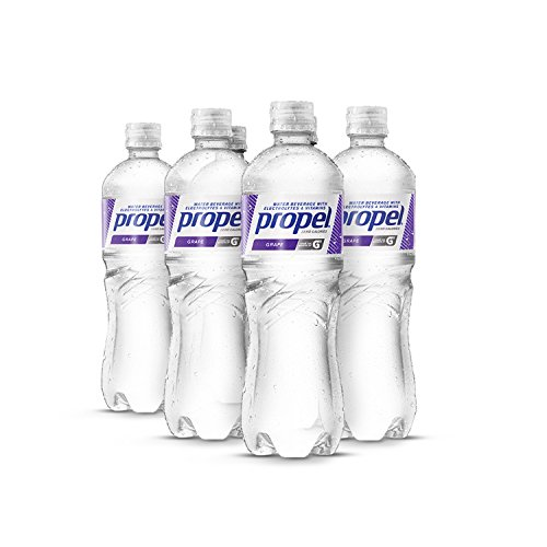 Propel Water Grape Flavored Water With Electrolytes, Vitamins and No Sugar 16.9 Ounces (Pack of 6)