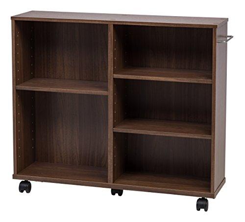 IRIS USA, Inc. 596741 WRS-3008 Rolling Shelf, Wide, Dark Brown