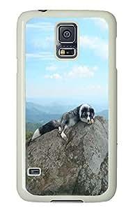 protective Samsung Galaxy S5 case Taking A Nap Animal PC White Custom Samsung Galaxy S5 Case Cover