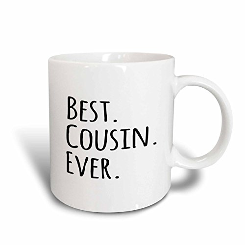 Mug Cousin - 3dRose 151484_5 Best Cousin Ever Mug, 11 oz, Black