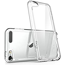 iPod Touch 6th Generation Case, [Scratch Resistant] i-BlasonClear [Halo Series] for Apple iTouch 5/6 Hybrid Bumper Case Cover (Clear)