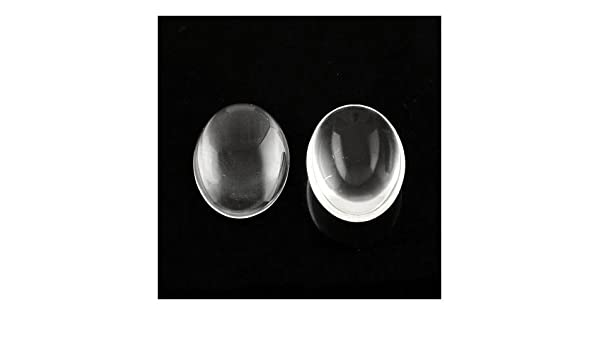 Charming Beads Packet of 20 x Clear Glass 13 x 18mm Oval-Shaped Flat-Backed Cabochon Y02905