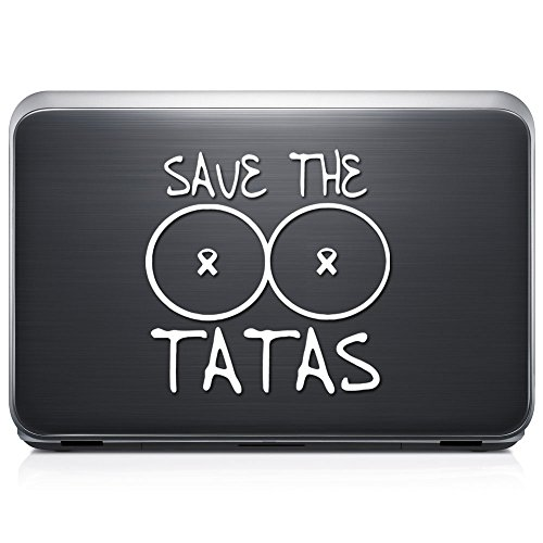 Funny Save The Tatas Breast Cancer PERMANENT Vinyl Decal ...