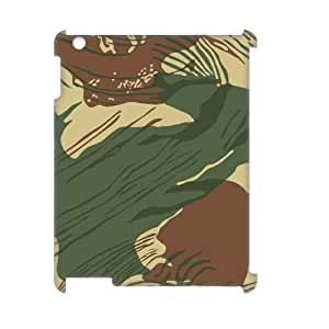 Camouflage Pattern 3D-Printed ZLB561188 Personalized 3D Cover Case for Ipad 2,3,4