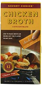 Savory Choice Chicken Broth Concentrate, 5.1-Ounce Boxes (Pack of 4)