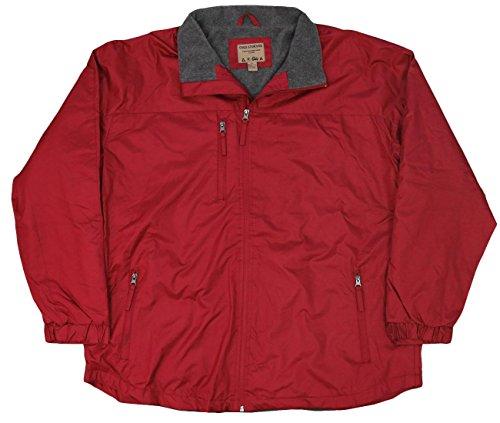 Northern Expedition Men's Fleece Lined Windbreaker Jacket (Medium, Cardinal)