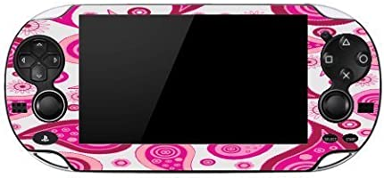 Pink Paisley Fun Design Pattern Playstation Vita Vinyl Decal Sticker Skin by Debbie's Designs by Debbie's Designs