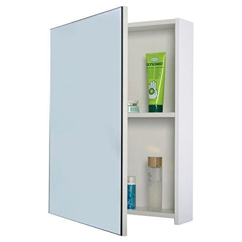 Furinho Bush - 20'' Wide Wall Mount Mirrored Bathroom Medicine Cabinet Storage Mirror Door New YRS 1140 by Furinho Bush