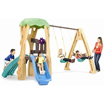Amazon Com Little Tikes Hide And Seek Climber And Swing Toys Games