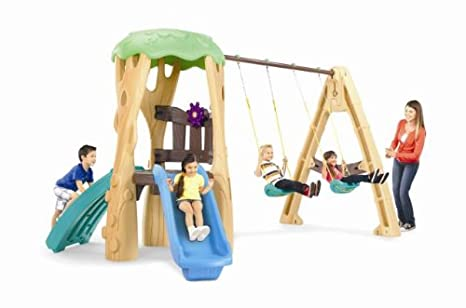 Amazon Com Little Tikes Tree House Swing Set Toys Games