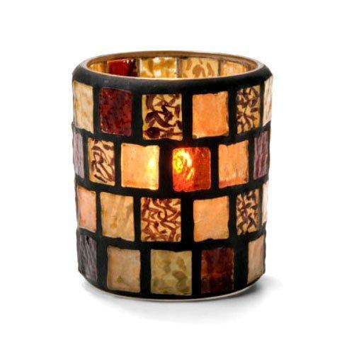 - Votive Lamp, Mosaic, Amber