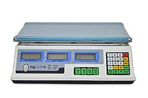 Bascula Comercial de 40Kg Balanza Digital 33x24cm Bascula Industrial