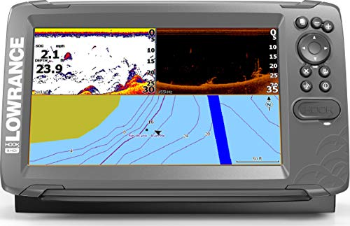 Lowrance HOOK2 9 - 9-inch Fish Finder with SplitShot Transducer and US / Canada Navionics+ Map Card ...