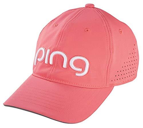 Ping Ladies Tour Performance Cap Golf Hat Womens 2017 - SALMON/WHITE