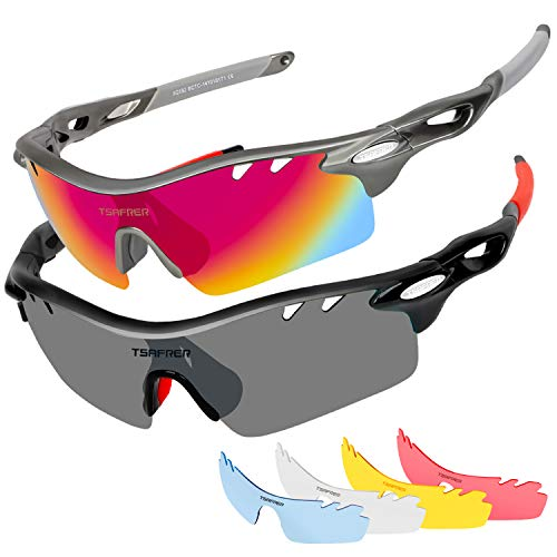 f08516aed54 Polarized Sports Sunglasses 2 Pairs for Men Women Cycling Running Driving  Fishing Golf Baseball - Buy Online in Oman.