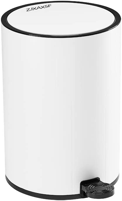 Amazon Com Zjxaxsf Trash Can Bathroom Trash Can Kitchen Trash Can Bedroom Trash Can White Plastic Small Trash Can Home Kitchen