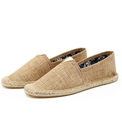 West See Unnisex Sommer Schuhe Slip-on-Sneaker Atmungsaktives mesh-oberfläche Schuhe herren Damen Aquaschuhe Strandschuhe Breathable Schlüpfen Kahki