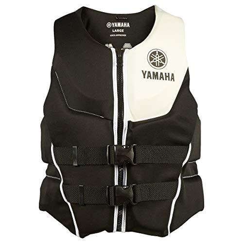 OEM Yamaha Men's Neoprene 2-Buckle PFD Life Jacket Vest (White,Medium) ()