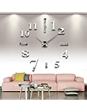 Adhesive Wall Clock, Reflective Mirrors - 12S015-S