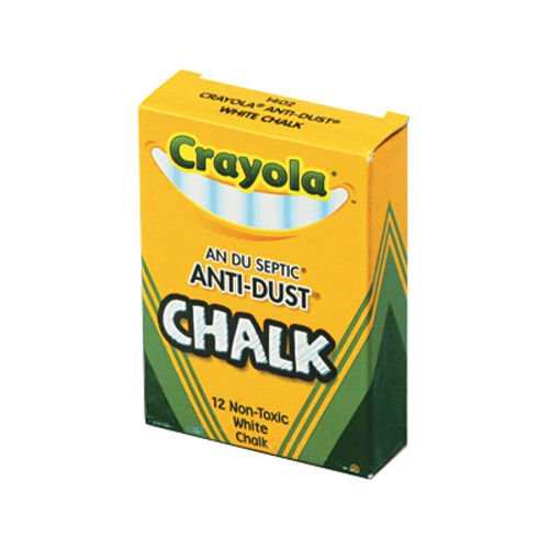 Crayola Nontoxic Anti-Dust Chalk, White, 12ct CYO 501402