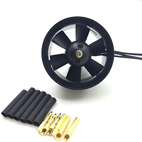 JFtech 30mm Duct Fan with 14000KV Brushless Motor 2S Version for RC Model Mini Ducted Fan EDF Jet (30 Mm Ducted Fan)