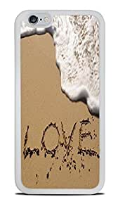 The Word Love in The Sand White Silicone Case for iPhone 6 (4.7)