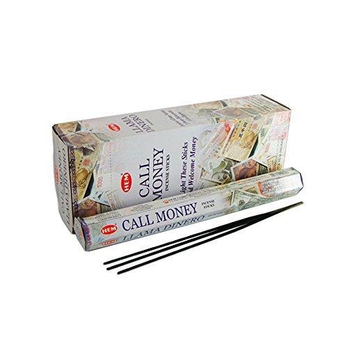 Money Incense Sticks - 120 Incense Sticks Bulk Pack, HEM, Zen Aromatherapy, 6 Boxes of 20 Sticks - Call Money