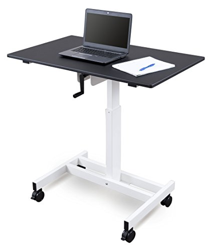 Single Column Crank Adjustable Stand Up Desk (40