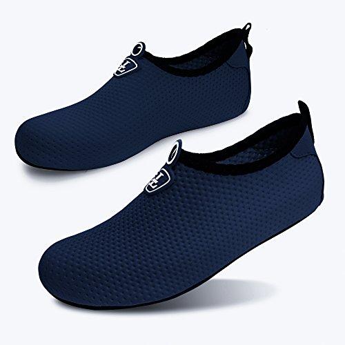 L-RUN Unisex Wasser Schuhe Barfuß Haut Schuhe für Dive Surf Swim Beach Yoga Reine Marine