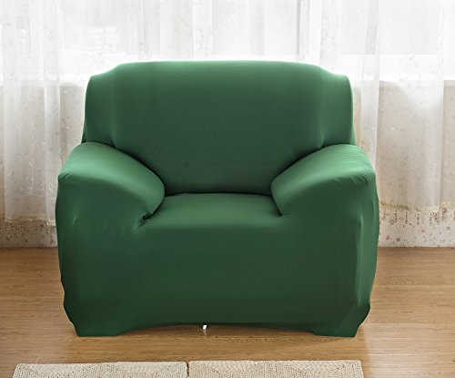 - East Eagle Stretch Couch Sofa Lounge Cover Slipcover Protector 1/2/3 Seater (1 Seater, Green)