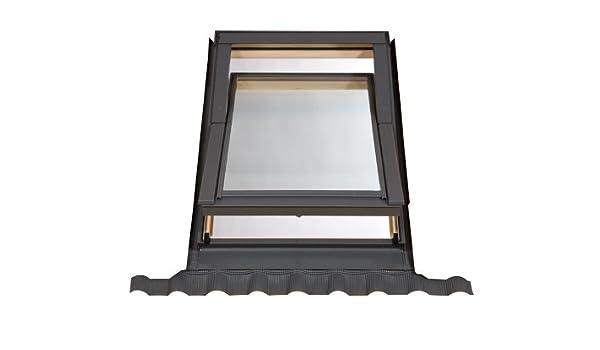 55 x 72 cm (estilo Velux) aplique para salida del conducto Deluxe incluye intermitente Kit con ventana transparente para documentos: Amazon.es: Bricolaje y ...