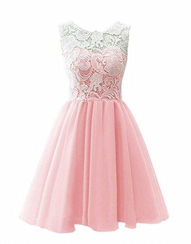 Leader of the Beauty Chiffon Short Prom Dress Bridesmaid Homecoming Gown Pink kfnZi