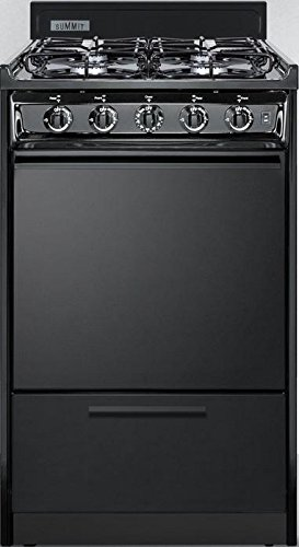 TTM1107CS 20 Gas Freestanding Range with 4 Sealed Burner Electronic Ignition Removable Burner Caps and Broiler Compartment in Black by Summit