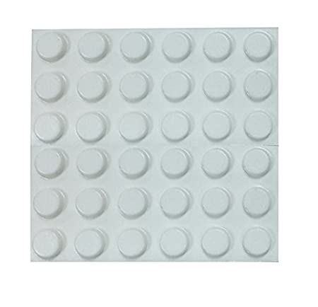 Bulk hardware BH01904-100 mm auto adhesivo de la almohadilla de goma redonda - negro (paquete de 35)