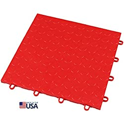 IncStores 12in x12in Grid-Loc Garage Flooring Tiles (12 Tile Pack) Interlocking Modular Floor System With Built-In Drainage and Snap Together Installation