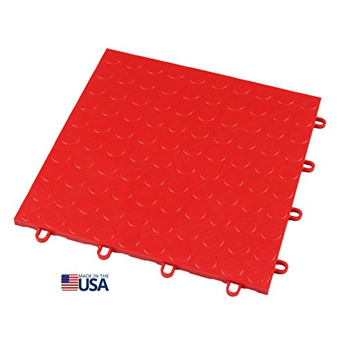 Garage Floor Tiles Interlocking (IncStores 12in x12in Grid-Loc Garage Flooring Tiles (12 Tile Pack) Interlocking Modular Floor System With Built-In Drainage and Snap Together Installation)