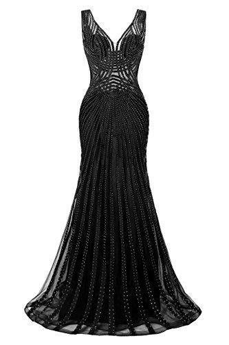 long black prom dress with diamonds - 2