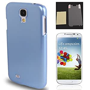 Pure Color Smooth Surface Plastic Funda con Screen Protector Case Cover & Cleaning Cloth para Samsung Galaxy S4 i9500/(Blue)