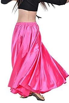 YANNI - Falda de satén para Bailar y Bailar, Rosa roja: Amazon.es ...
