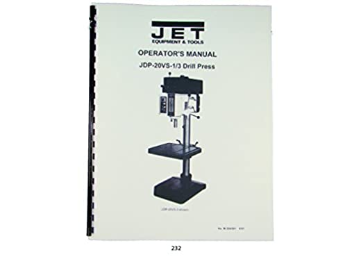 41P6AiiLDxL._SY373_BO1204203200_ jet jdp 20vs 1 3 drill press operator & parts list manual jet  at bakdesigns.co