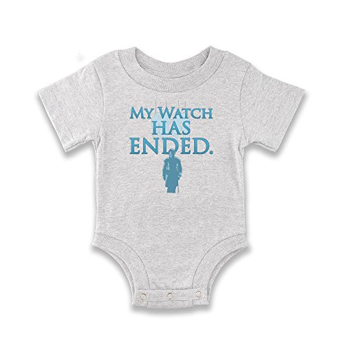My Watch Has Ended Grey 6M Infant Bodysuit by Pop Threads