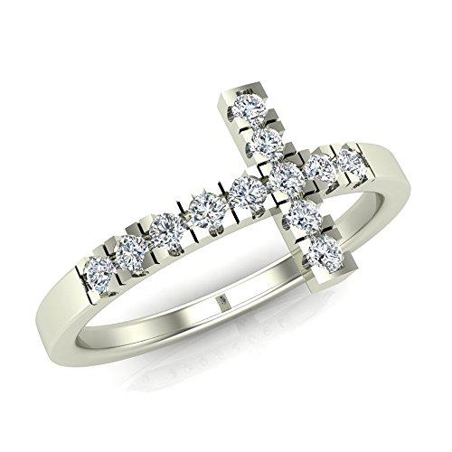 0.24 Ct Diamond Cross - 5