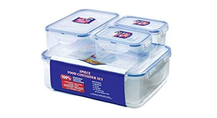 Lock & Lock 4 Piece Storage Container - Clear/Blue, Set of 4 HPL834SA 834SA kitchen accessories food container